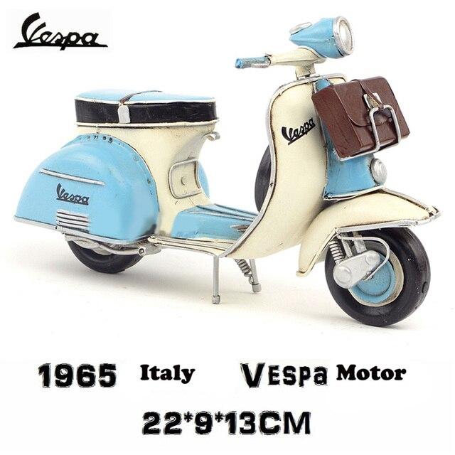 vespa mini metal model motorcycle Blue Italy vintage toy motorcycle with handbag toy hot wheel Diecast metal model motorcycle