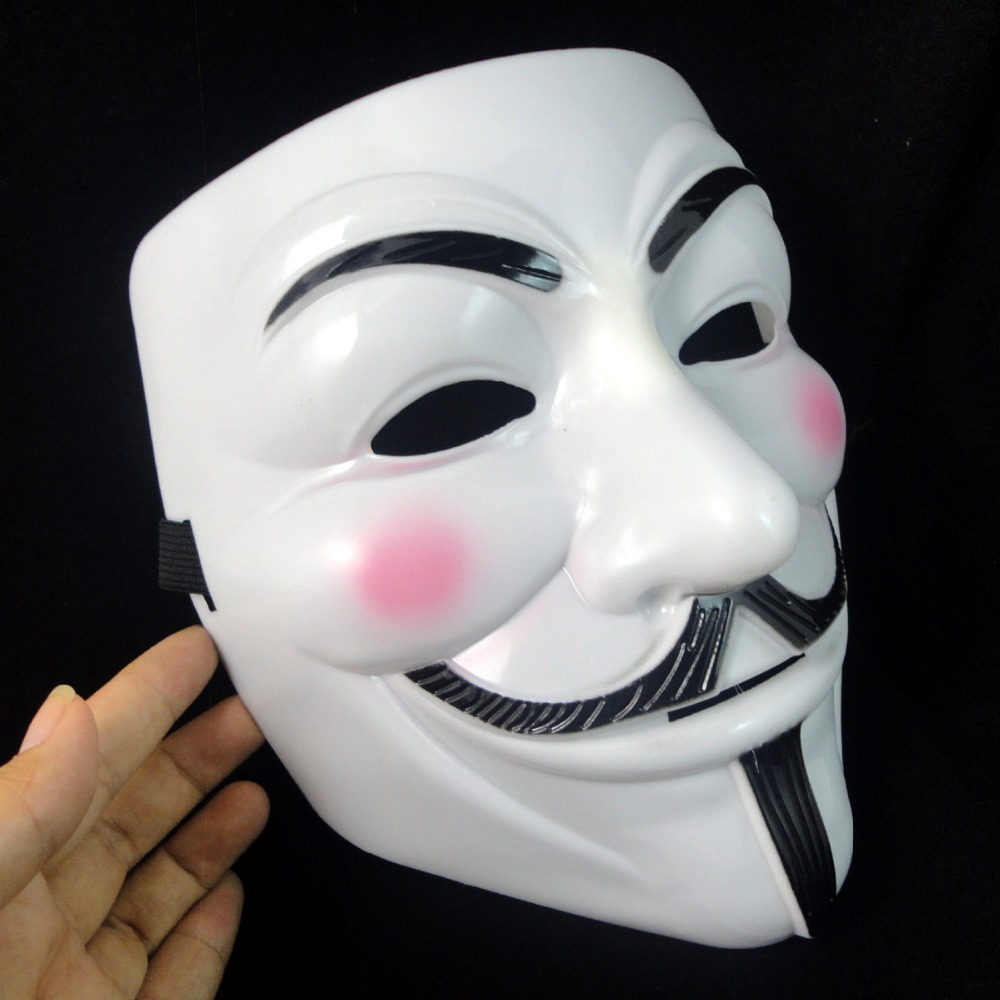 Cosplay Face Mask V For Vendetta Mask Anonymous Mascara Movie ...