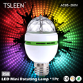 TSLEEN 2016 NEW E27 3W Colorful Auto Rotating lampada 85-260V Bulb Stage Light Party Lamp Disco MIni RGB LED Nightlight