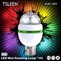 TSLEEN 2016 NEW E27 3W Colorful Auto Rotating lampada 85-260V Bulb Stage Light Party Lamp Disco MIni RGB LED Nightlight