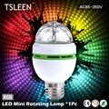 TSLEEN 2016 NOVO E27 3 W Colorido Auto Rotating lampada 85-260 V Lâmpada Luz Do Estágio Do Partido Discoteca Lâmpada MIni RGB LED Nightlight
