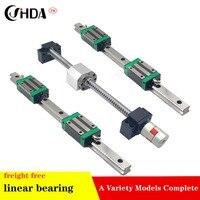 2 pc 20mm linear rail+ CONJUNTO 1 SFU1605 + 4 HGH20CA/HGW20CA +BK/BF 12 Linear guide Linear motion module