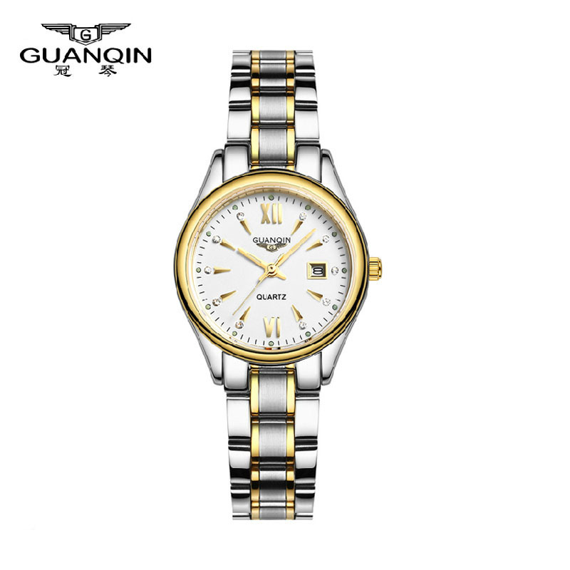 ФОТО 2017 GUANQIN Fashion Watch Women Top Brand Luxury Quartz Watches Women Dress relogio feminino Waterproof Ladies Gold Wristwatch