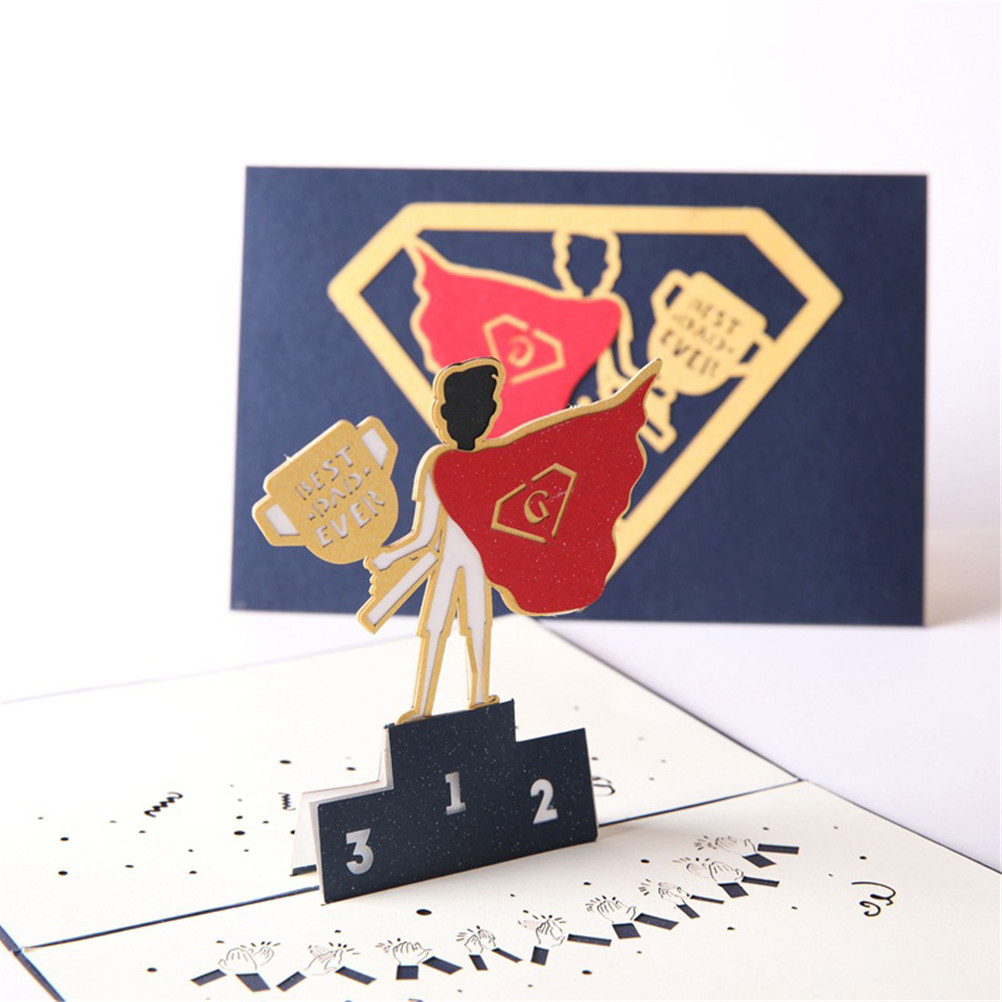 Mengxiang 3d Cutting Greeting Cards Wholesale Pop Up Card Fathers