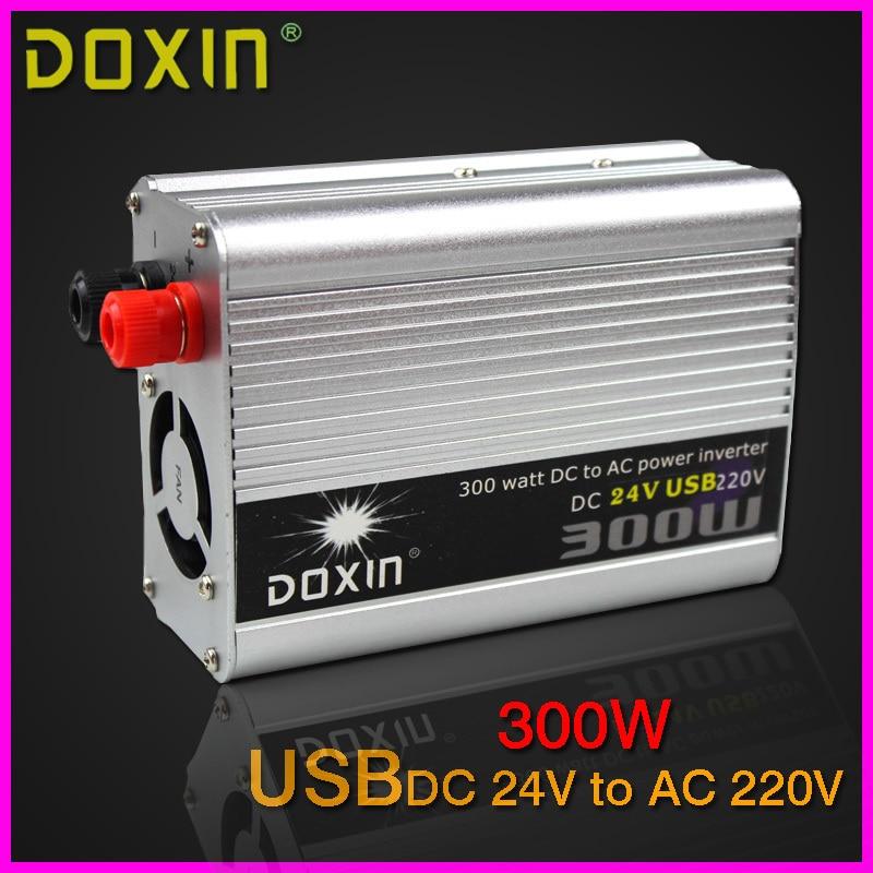 USB 300W DC24V to AC220V Car font b Power b font Inverter Converter font b Charger