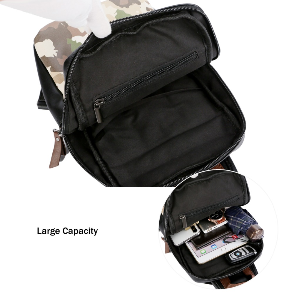 VICUNA POLO Fashion Camouflage Black Soft Leather Messenger Bag Casual Men  Sling Bag Brand Short Travel Shoulder Bag For Male -in Crossbody Bags from  ... d687f31f24