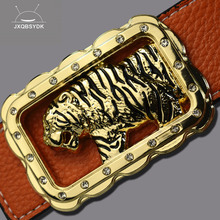 5e9c317b1 JXQBSYDK Luxury Brand Belts for Men Fashion High Quality Domineering Tiger  Head Buckle Designer Male Leather