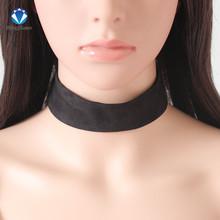 1pc torques Bijoux Plain Black Velvet Ribbon Collares Anime Maxi Necklace Chokers Necklace jewelry accessories women 6styles