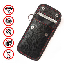 Anti Theft RFID Key Bag Signal Blocking Cover Pouch Case Leather WIFI NFC Protection Waterproof