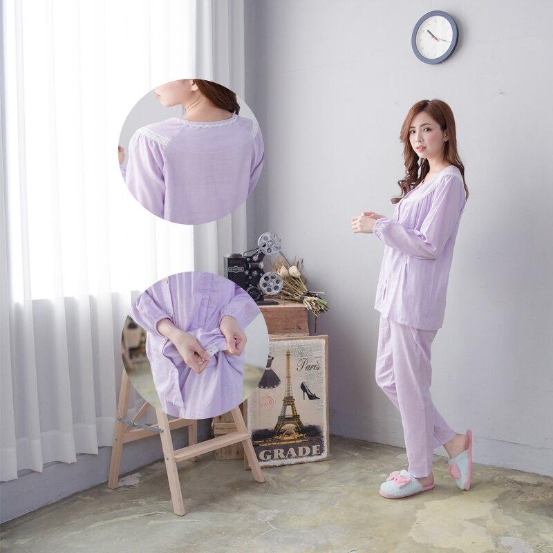 Maternity Nursing Pajamas set Summer Long Sleeves Cotton Breastfeeding and Nursing Pajama