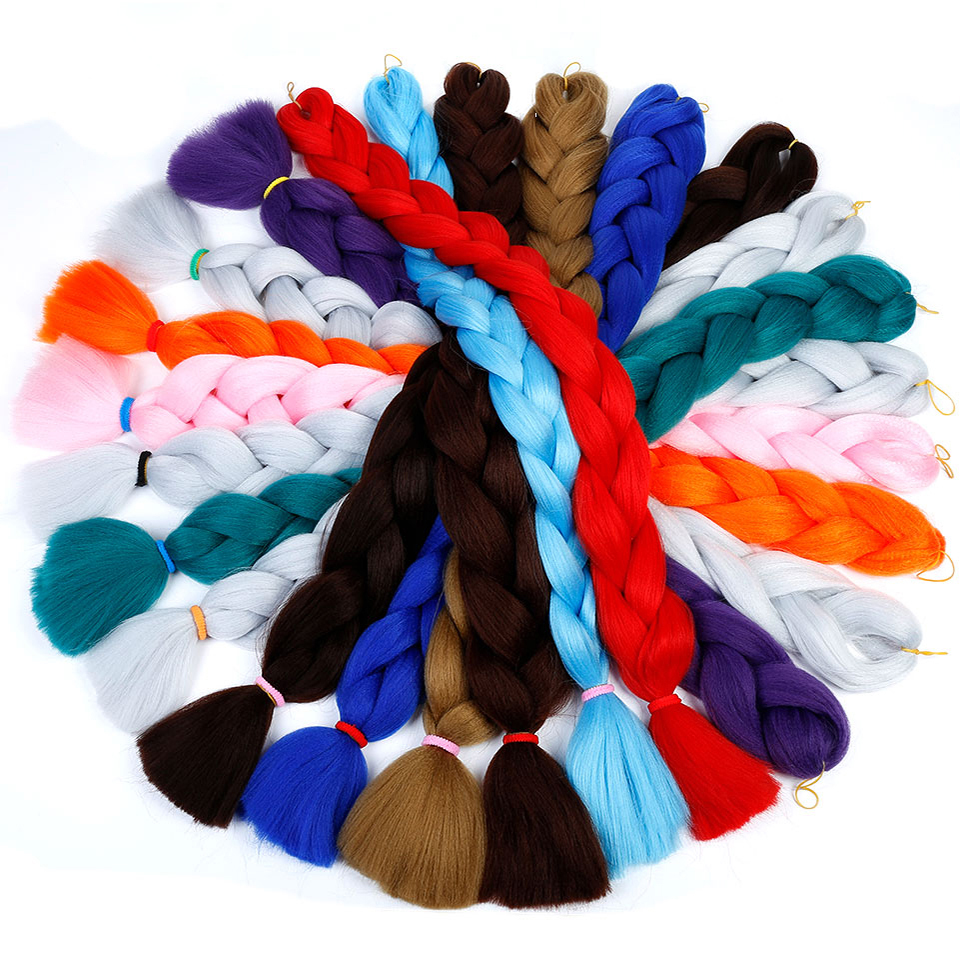 """Bybrana 82"""" 165g/pack Synthetic Braiding Hair Extensions Jumbo Braids Wig Suitable For Men, Women, And Children"""
