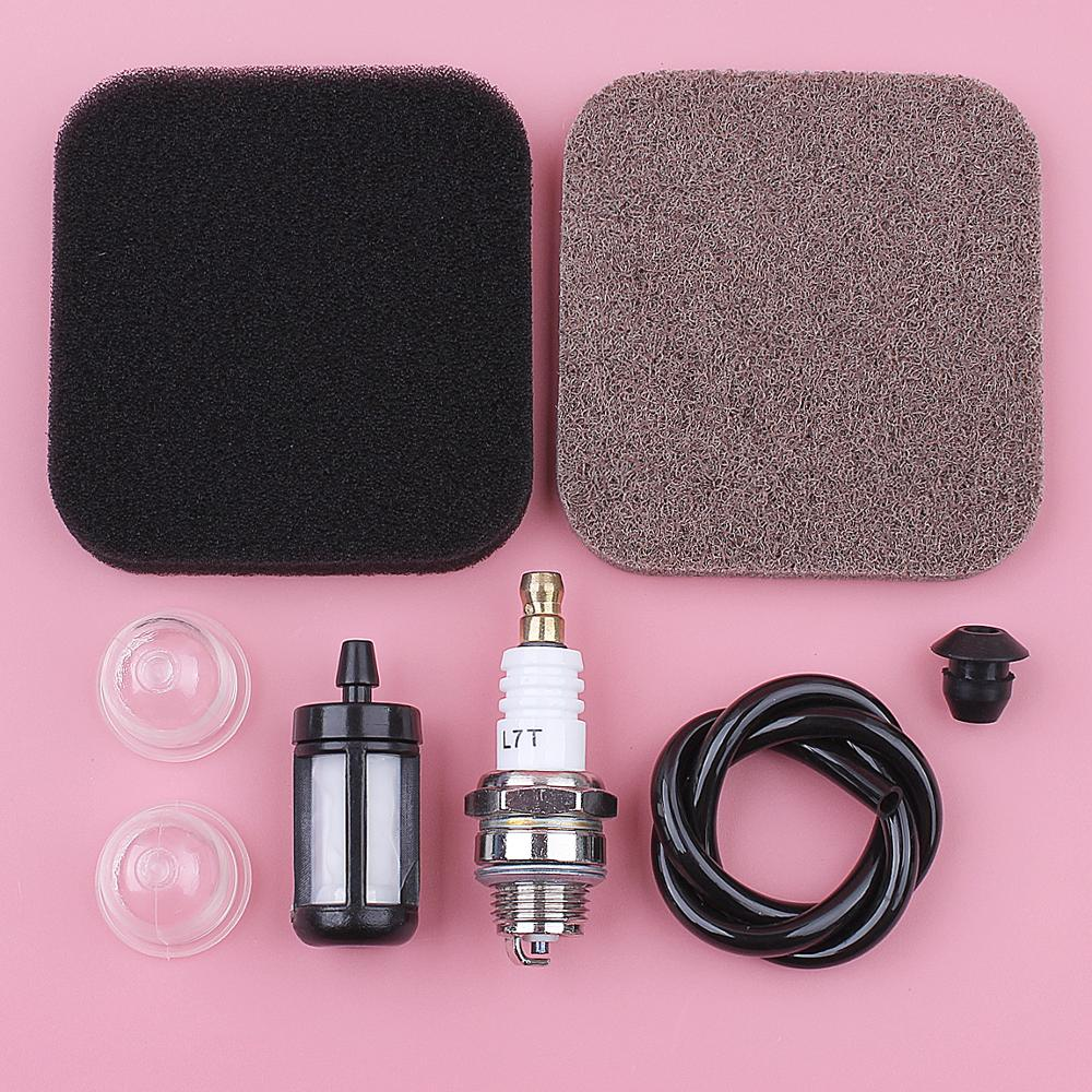 Air Fuel Pre Filter Line Primer Bulb Spark Plug Grommet Kit For Stihl BG75 FC75 FC85 FS75 FS80 FS85 FS85R HL75K HS75 HS80 HS85
