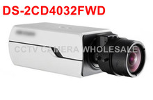 Free shipping Multi-language version DS-2CD4032FWD 3MP WDR Box CCTV ip Camera with no lens