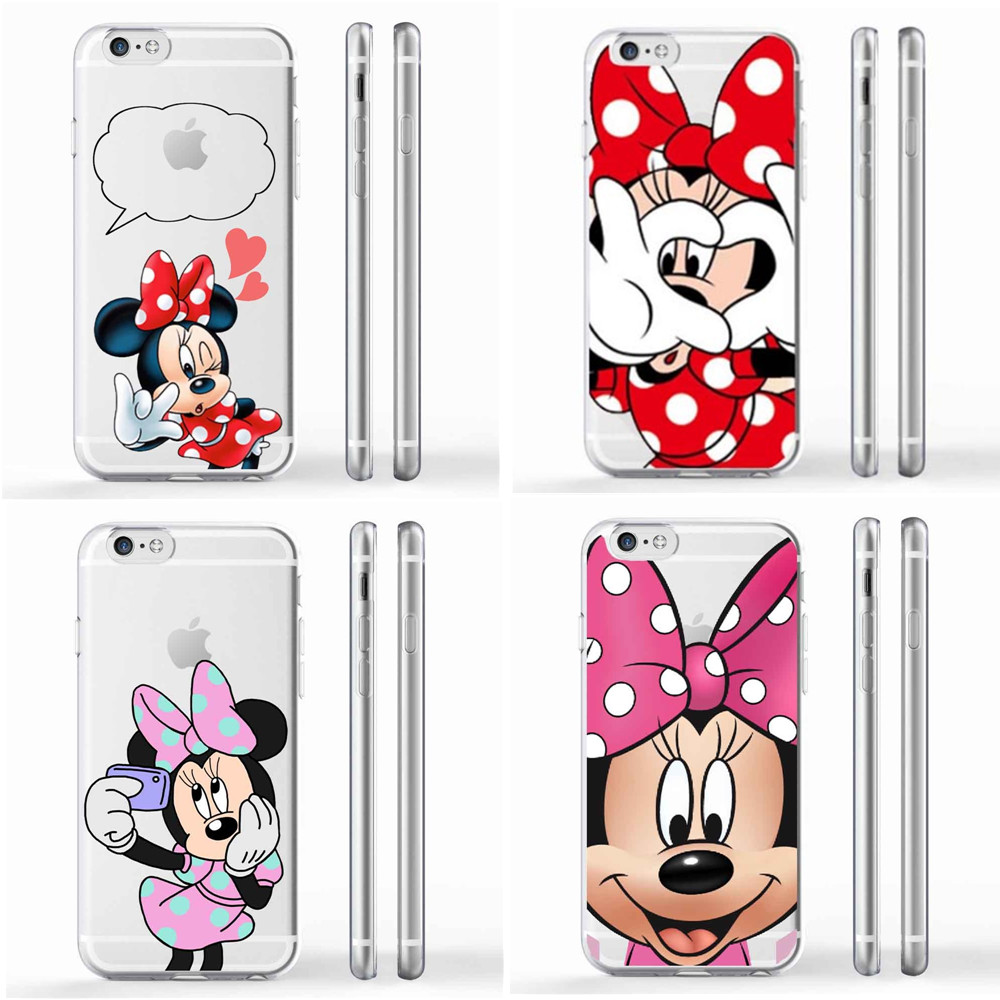 Mickey Minnie Mouse Women Phone Cases For Apple iPhone 6 6s plus 7 7plus SE 5 5S 8 8Plus X 10 Donald Daisy Duck Case Capa