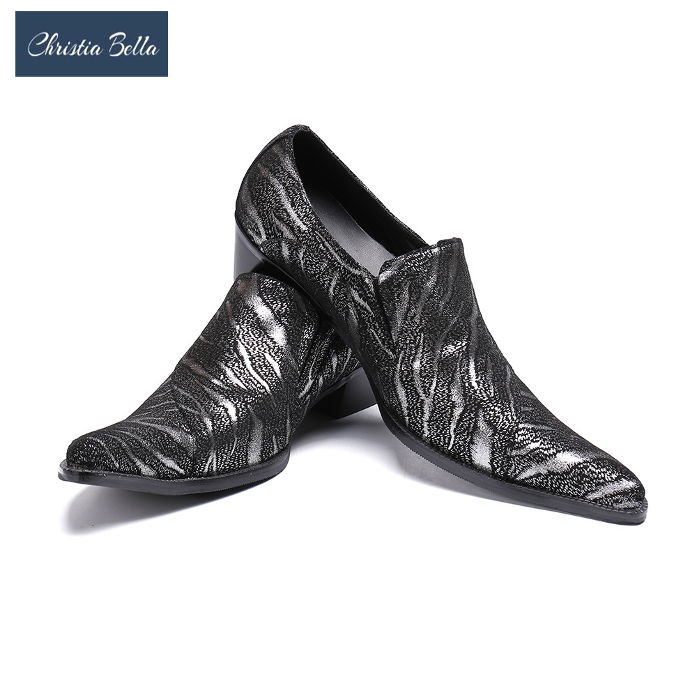bafecaf184b0 Christia Bella Luxury Business Dress Shoes Fashion Party and Wedding Men  Loafers Plus Size Men High