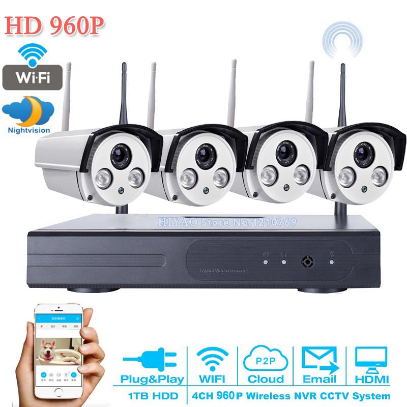 NEW 4CH IR HD 4CH CCTV system 1.3MP 960P Real time Surveillance WIFI DVR KIT 4PCS outdoor 2500TVL Security Camera System 2TB HDD