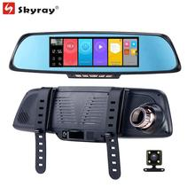 6.86″ IPS Touch Screen Mirror Dash Cam GPS Navigation FHD 1080P ADAS Car DVR Bluetooth WIFI Android Camcorder with Rear Camera
