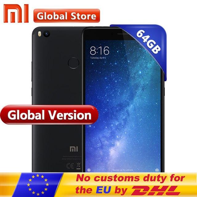 """Первоначально Глобальный Версия Сяо Mi Max 2 Max2 4 ГБ Оперативная память 64 ГБ 6.44 """"Дисплей Snapdragon 625 Octa core мобильный телефон 12.0MP 5300 мАч"""