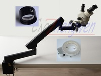 FYSCOPE 3.5X 45X STEREO ZOOM MICROSCOPE +ARTICULATING STAND MICROSCOPE+144A LED