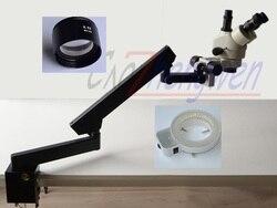 FYSCOPE 3.5X-45X stereoskopowy mikroskop zoomowy + mikroskop stereoskopowy + 144A LED
