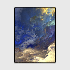 Image 3 - 抽象美しい雲青、金、白ホームベッド玄関エレベーター床マットソファコーヒーテーブルスリップカーペット