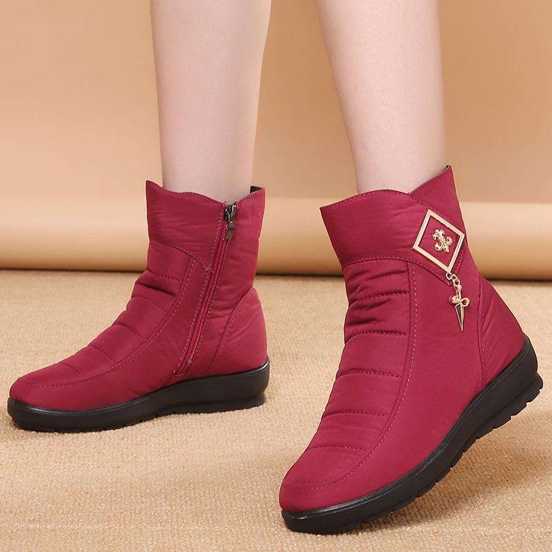 Зимние ботинки женская обувь 2020 теплые плюшевые ботильоны на молнии женские ботинки размера плюс женская обувь на платформе zapatos de mujer Зимние сапоги      АлиЭкспресс