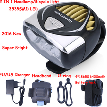 New Arrival 3000LM 3535 SMD LED Bicycle Bike Light Headlamp Head Light Lamp cycling With Battery Pack & Charger Free Shipping