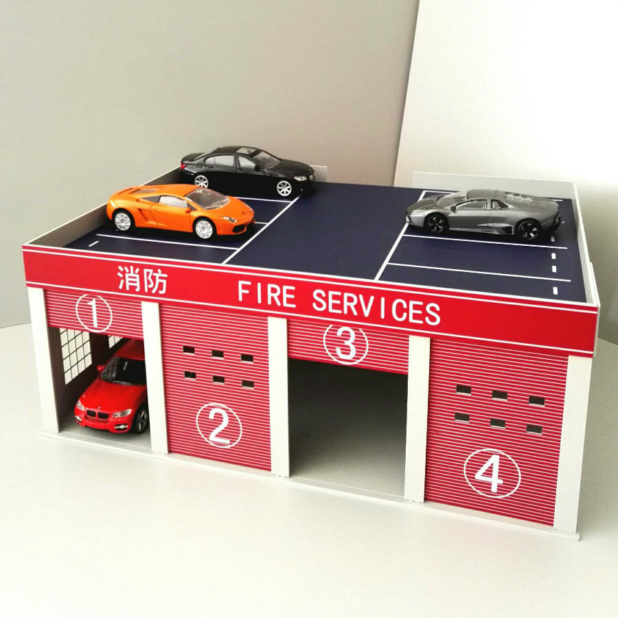 1/43 1/50 Universal Fire Truck Model Garage Fire Souvenirs Logistics Scene Sand Table for architecture model and kits toys все цены