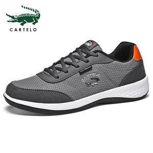 Image 5 - CARTELO أحذية رجالي رياضية الترفيه أحذية رجالي موضة الكورية الاتجاه شبكة تنفس خفيفة الوزن احذية الجري مريحة الرجال
