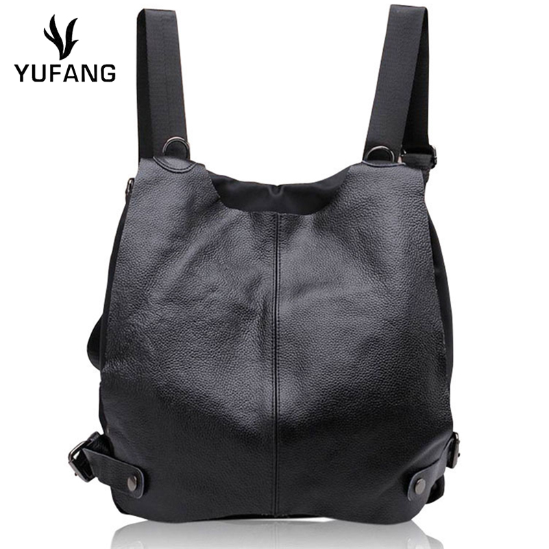 Yufang Women Backpack Genuine Leather Ladies Travel Bags Portable Backpack Female Brand Student School Bags Large Capacity