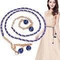 Superior de la venta! Correa de Cadena de la Perla de la Manera del Cuerpo de La Correa de las mujeres Cinturones Casuales para Mujer Vestido de La Cintura Cinturón de alta calidad #489