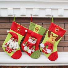 2016 New Large Long Legged Christmas Stocking Xmas Tree Decoration Ornaments Gift Candy Bag Christmas Decoration Socks