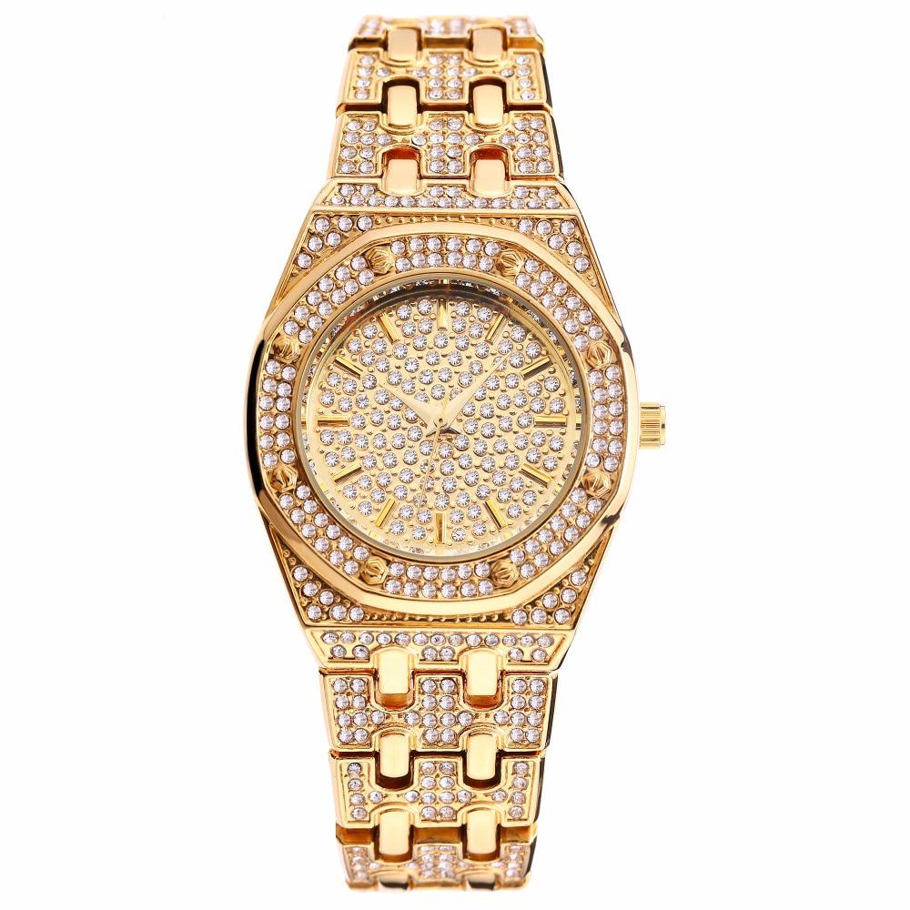 New Arrival Luxury Women Watches Fashion Dress Ladies Watch gold Crystal Bracelet Wristwatch Waterproof Clock Women duoya watches women fashion luxury gold watch women bracelet watch square diamond quartz wristwatch tassel dress gift clock