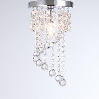 מודרני תקרת אור LED קריסטל אור לחדר שינה סלון מנורה