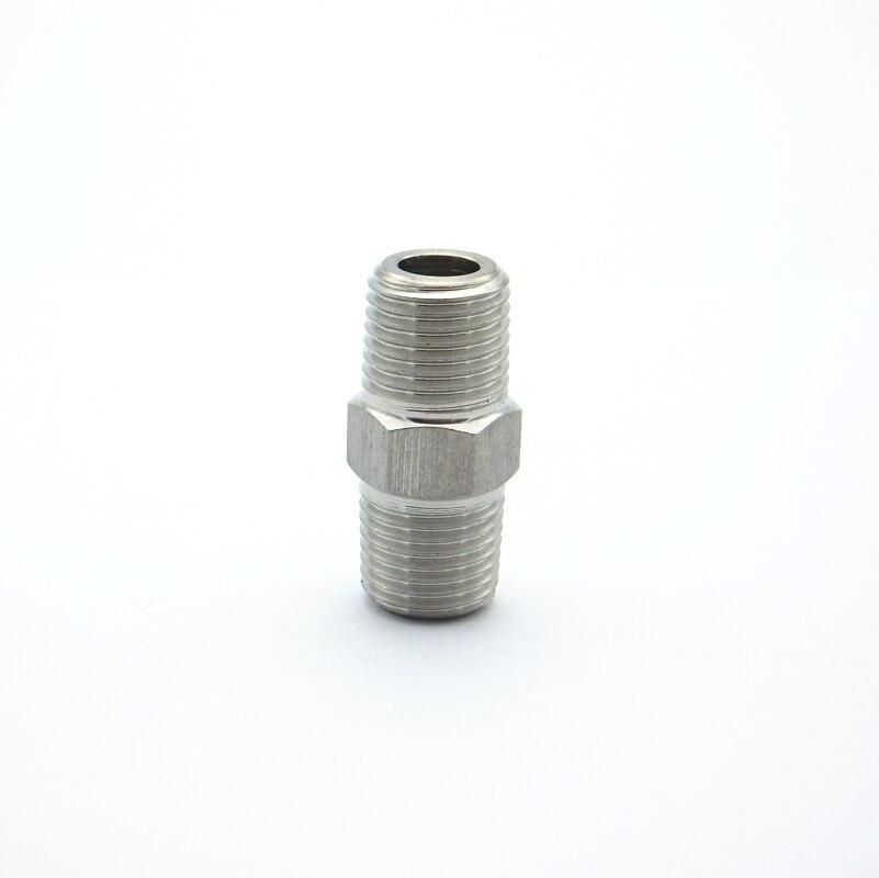 """1//4/""""x 6 mm Rosca macho tubo montaje Barb Manguera Cola Conector de Acero Inoxidable 304"""