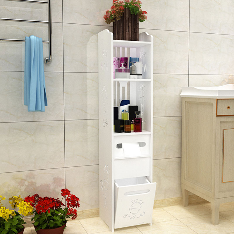 Fashion Modern Floor Standing Toilet Cabinet Folding Bathroom Storage Rack Washbasin Shower Shelf Corner Cabinet