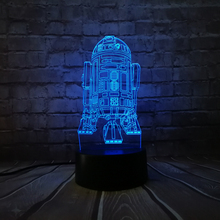 2019 3D USB 7 Colors LED Table lamp Star Wars Warship R2D2 Robot StormTrooper Rocket Model Touch Night Light in Bedroom Decor