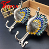 Brief Fashion Quality Peacock Alloy Curtain Hanging Ball Wall Hook Wall Hook Curtain Accessories