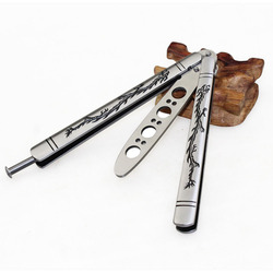 Motyl w nożu CS GO Karambit nóż praktyka składany nóż Butterfly trener gra nóż tępego ostrza bez krawędzi narzędzie z pudełkiem w Noże od Narzędzia na