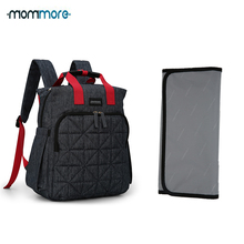hot deal buy mommore waterproof travel diaper bag with changing pad baby stroller diaper backpack nursing bag for baby care wet bag for baby