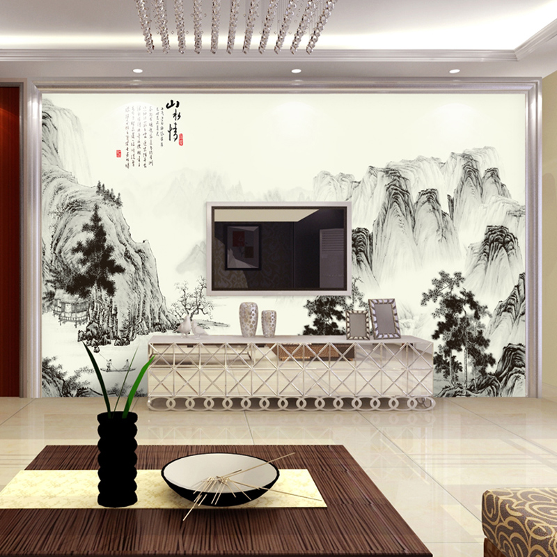 Large seamless wall tv background wall mural wallpaper for Big wallpaper for wall