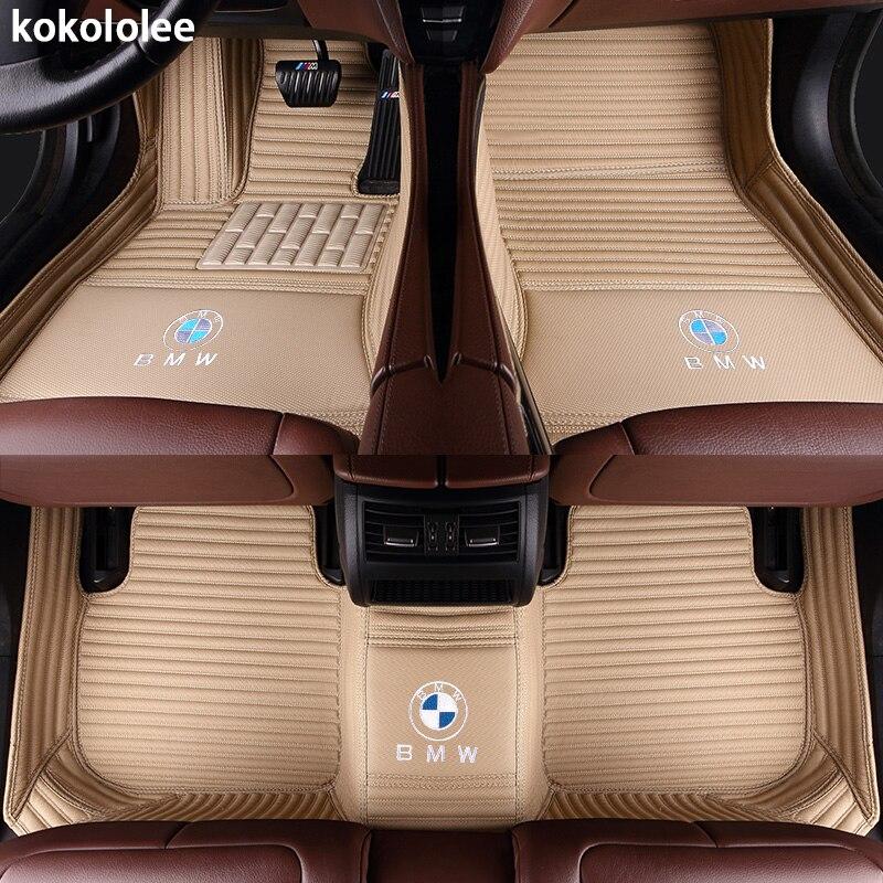 Kokololee Personnalisé plancher de la voiture tapis pour BMW e30 e34 e36 e39 e46 e60 e90 f10 f30 x1 x3 x4 x5 x6 1/2/3/4/5/6/7 accessoires car styling - 2
