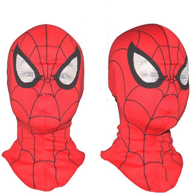 New Super Cool Spiderman Cosplay Máscara Máscaras Capa Cabeça Cheia Máscaras de Halloween para Adultos e Crianças Fantasias de Animais Crianças Brinquedo máscara