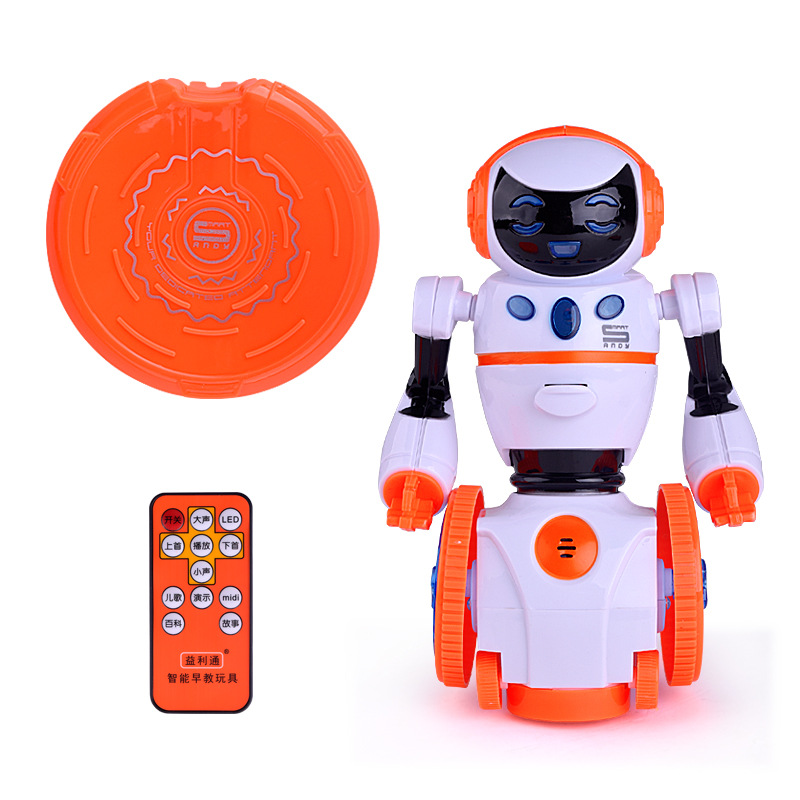все цены на Intelligent remote control robot Early Childhood Story Electric Model Intelligent Robot Toys Interesting gift for children