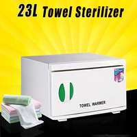 23L Sterilizer Cabinet Hot Facial Towel Warmer Disinfection Beauty Spa Salon 200W 220V 50Hz ABS+Stainless Steel 3 in 1 Function