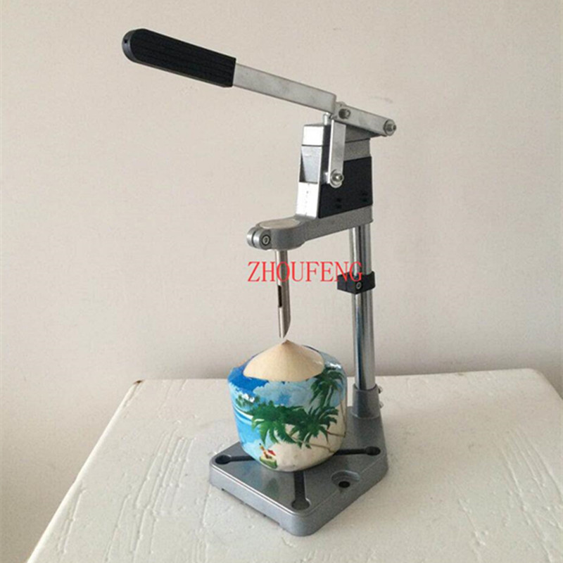 New design stainless steel manual coconut opener green coconut driller young coconut knife drill