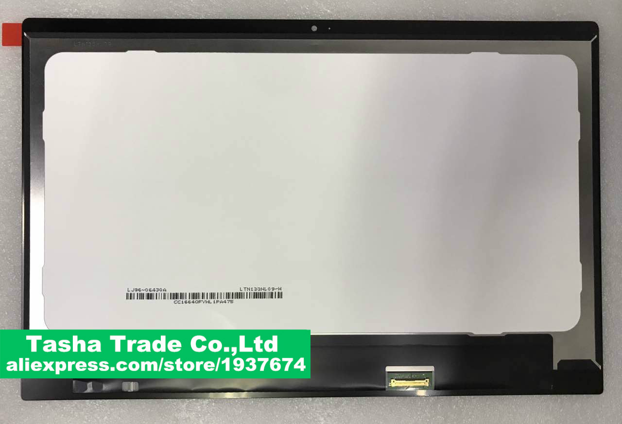 13.3 inch FHD 1920*1080 LCD screen with front glass screen Assembly For Xiaomi Air 13 13 3 front glass led lcd display screen matrix assembly with bezel for xiaomi ltn133hl09 w lq133m1jw15