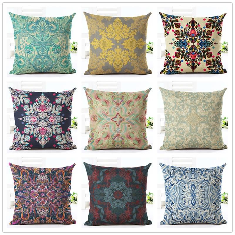 Wonderful Newest Design Throw Pillow Cushion Cover Home Decor Printed Linen Square  Home Decor Pillowcase(China