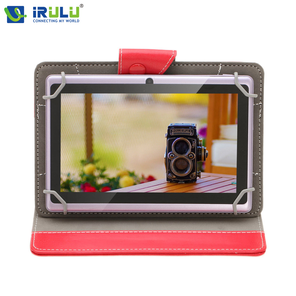 iRULU eXpro X1 7'' Tablet Quad Core  Android 4.4 Tablet Allwinner 16GB ROM Dual Cameras Supports WiFi OTG with Leather Case HOT s s toys каталка мотоцикл