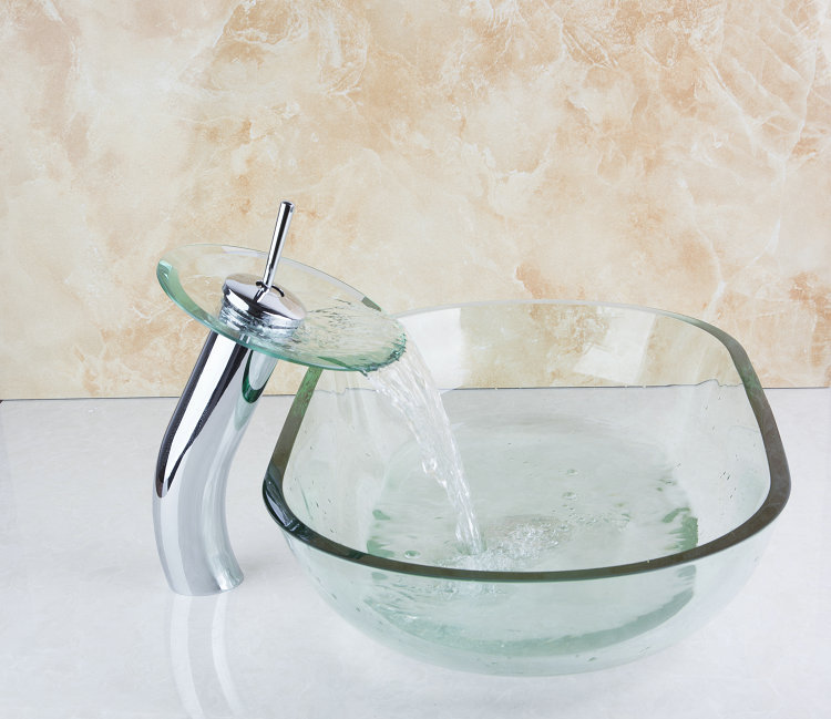 623 Clear Gl Vessel Bathroom Sink